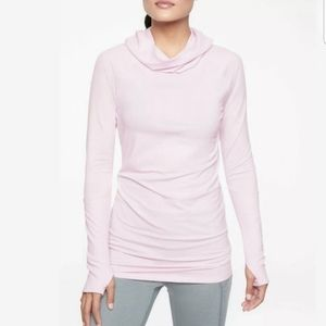Athleta Lilac Essence hooded tunic pullover top
